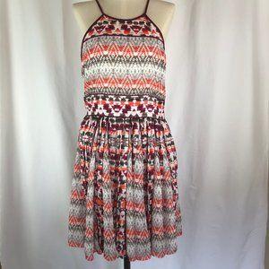 Parker Aztec Print Pleated Dress